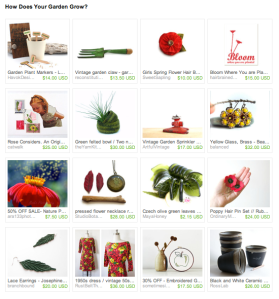 How Does Your Garden Grow Treasury by Instantkarmashop.etsy.com
