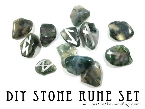DIY Eldar Futhark Stone Rune Set
